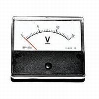 Analoge Paneelmeter 0 - 15V AC