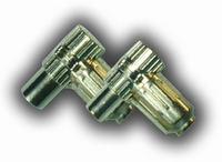 Coax plug metalen uitvoering