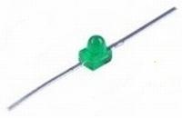 LED 1,9mm Axiaal groen  Zakje 6 stuks