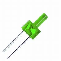 LED 2mm groen  Zakje 10 stuks